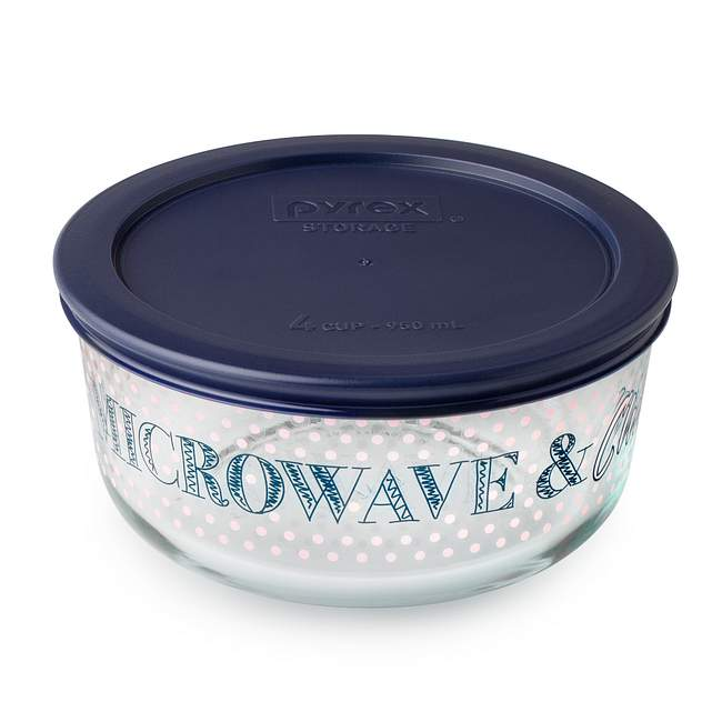 Simply Store 4 Cup 'Microwave & Chill' Storage Dish w/ Dark Blue Lid