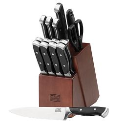 Armitage 16-pc Block Set with chef knife on table
