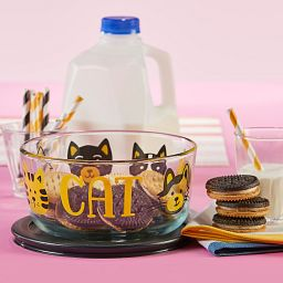 Furever Cat 4-cup Glass Food Storage Container with cookies