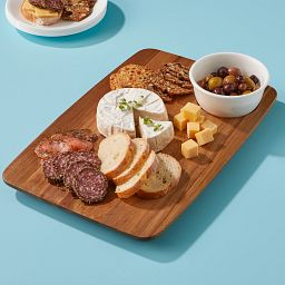 Coordinates Cheese Board & Bowl Serving Set with food