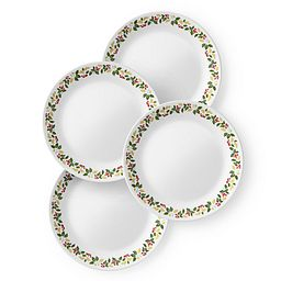 "Classic Holiday Berries 8.5"" Plate Set  4-pk"