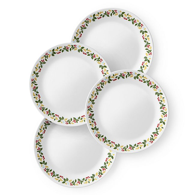 "Holiday Berries 8.5"" Plate Set, 4-pk"