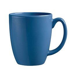 Livingware™ 11-oz Stoneware Blue Mug, Cornflower Blue