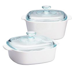 Stovetop™ Pyroceram® Just White 4-pc Casserole Set