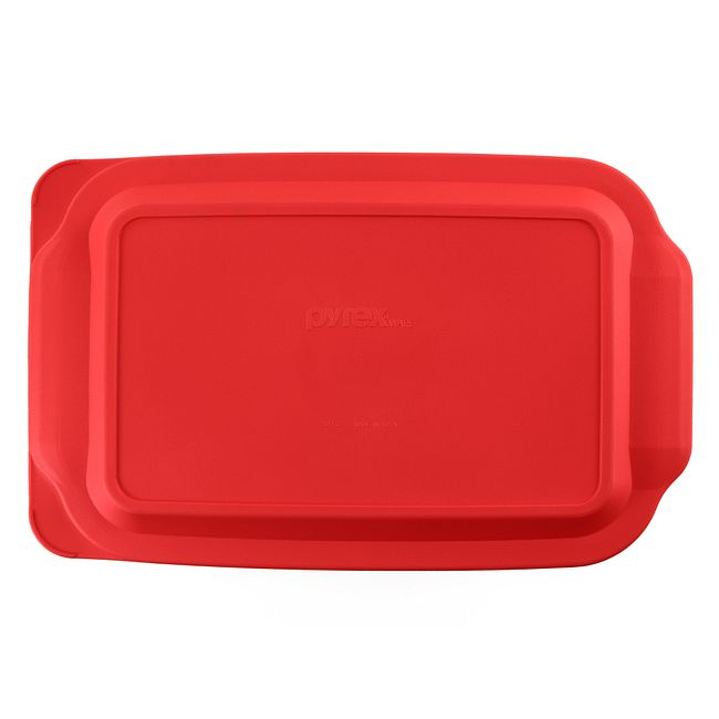 Red Lid for 4-quart Rectangular Glass Baking Dish