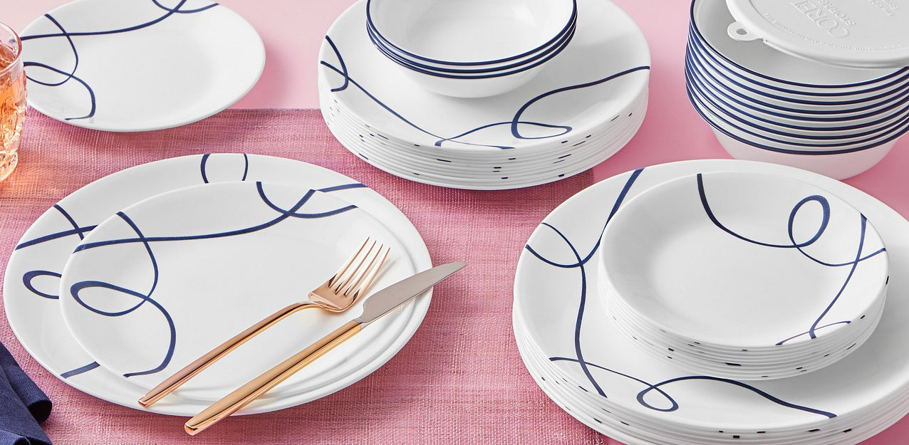 Lia round dinnerware 66-piece set