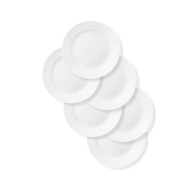 "Dazzling White 8.5"" Salad Plates, 6-pack"