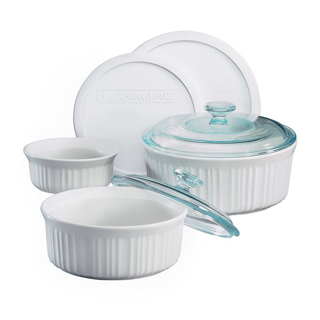 French White 7-piece Casserole Set