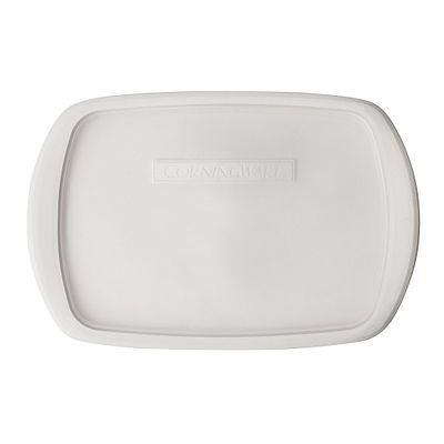 Corningware French White 3-Qt Oblong Casserole Plastic Lid