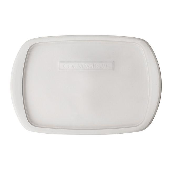 French White 3-qt Oblong Casserole Plastic Lid