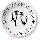 "Loving Cats Flirty 6.75"" Appetizer Plate"