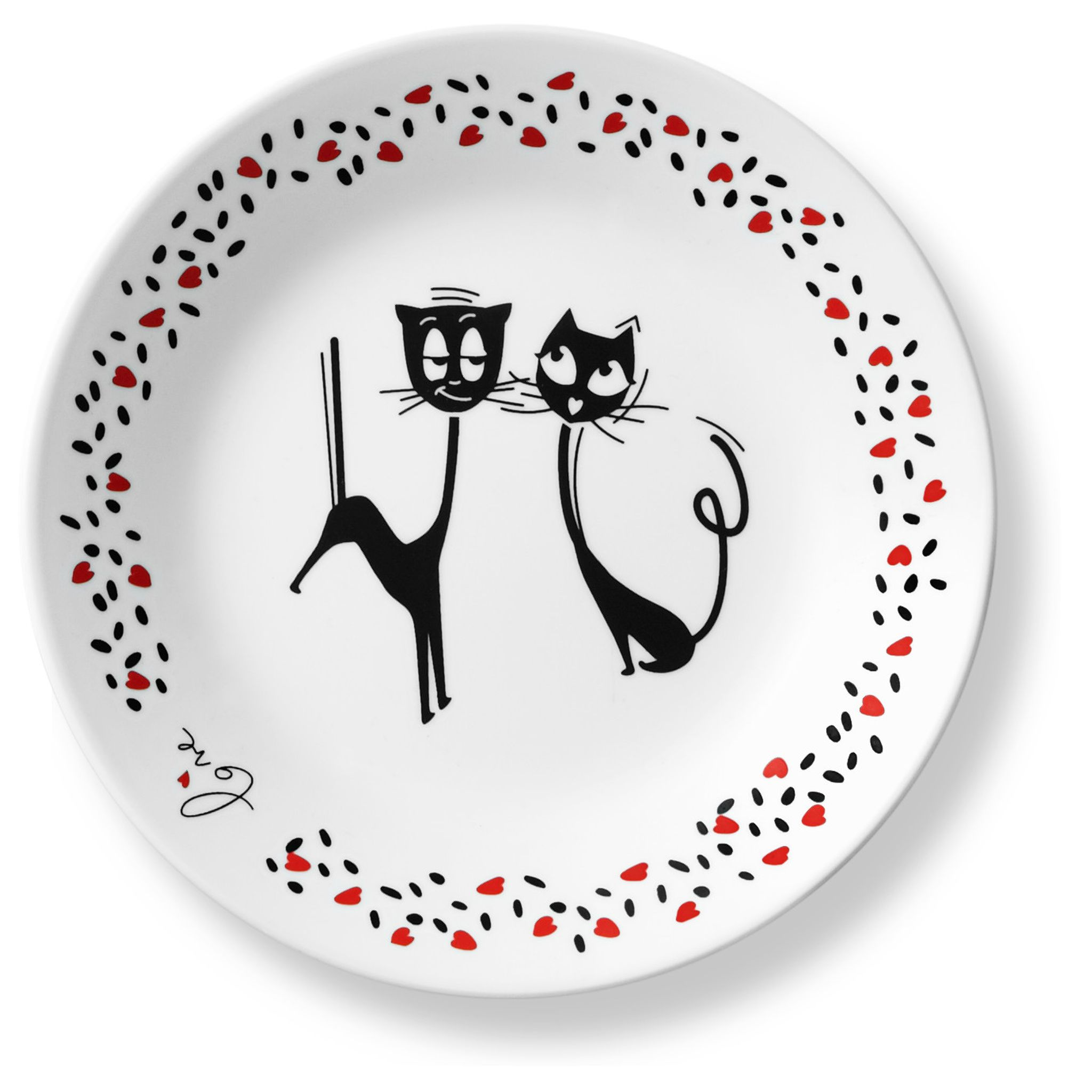 Corelle_Loving_Cats_Flirty_675_Appetizer_Plate