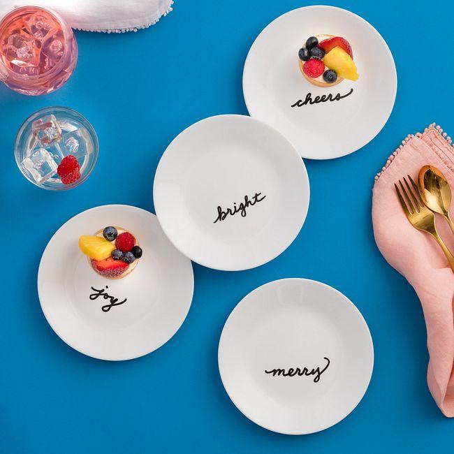 "Celebrations 6.75"" Appetizer Plates, 4-pack"