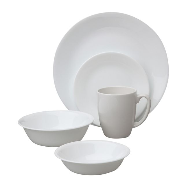 Winter Frost White 30-piece Dinnerware Set, Service for 6
