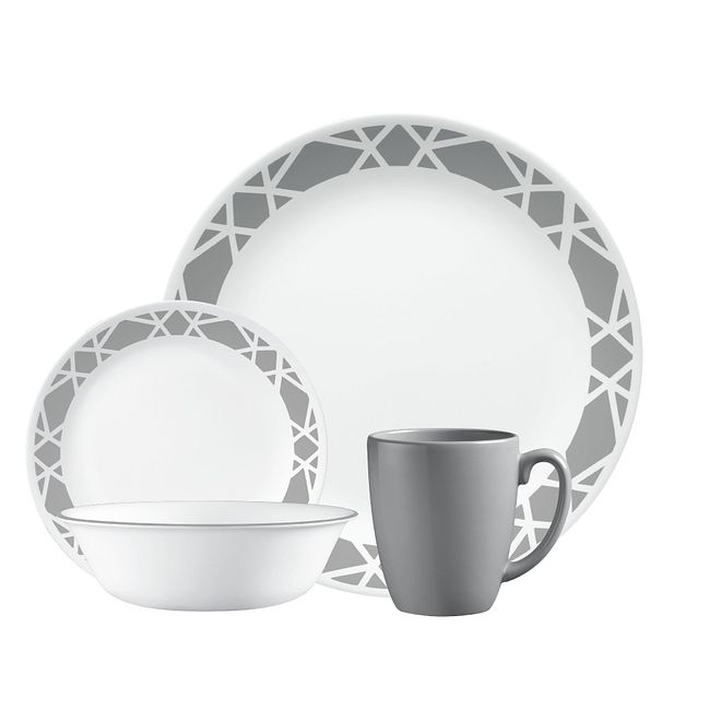 Modena 16-piece Dinnerware Set, Service for 4