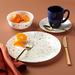 Signature Terrazzo 16-pc Dinnerware Set on the Table