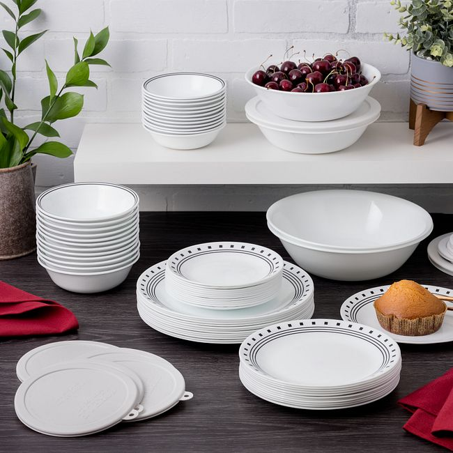 Livingware City Block 78-pc Dinnerware Set