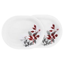 "Boutique™ Kyoto Leaves 12.25"" Platter  2-pack"