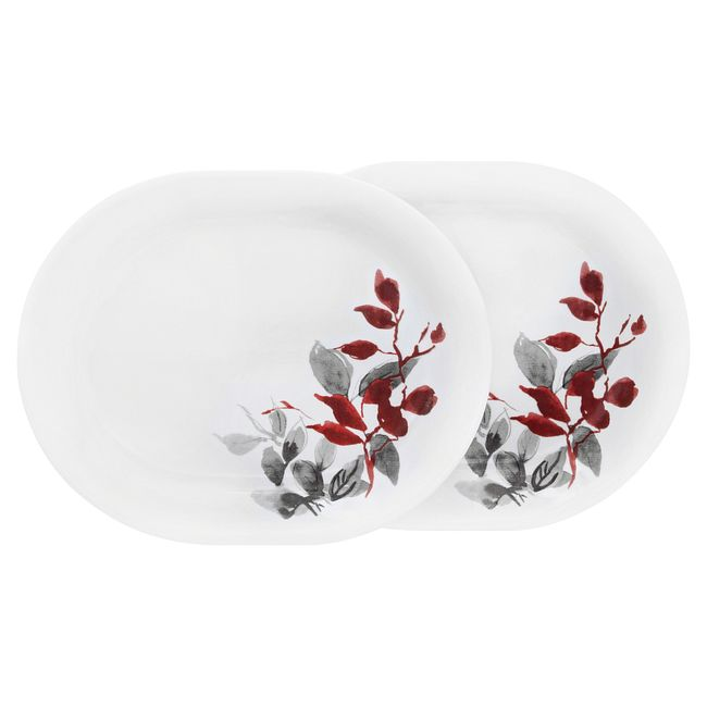 "Kyoto Leaves 12.25"" Serving Platter Set, 2-pack"