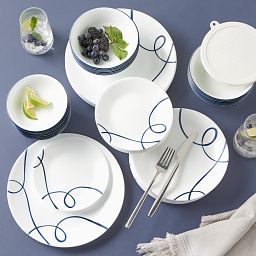 Lia 66-pc Dinnerware Set, Service for 12 on the table