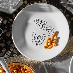 """Corelle 6.75"""" appetizer plate displaying Star Wars Chewbacca - on table with food"""