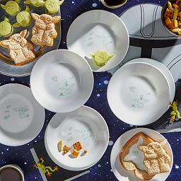 """6.75"""" Appetizer Plate, 8-Pack: The Child™ with food on the plates on the table"""