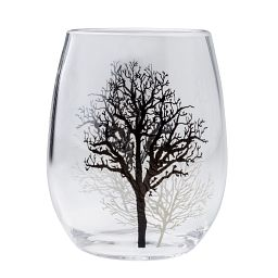 Coordinates® Timber Shadows 16-oz Acrylic Stemless Wine Tumbler