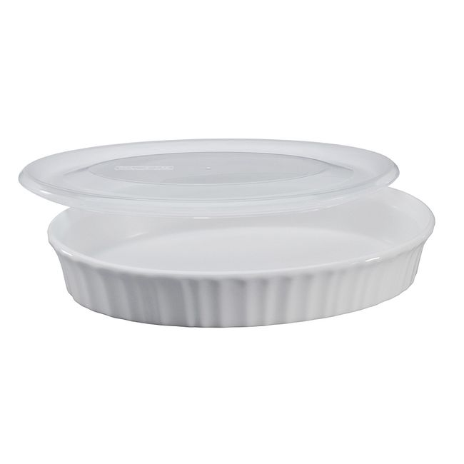 French White 27-ounce Baking Dish with Lid