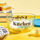 Kitchen Conversions 4-cup Food Storage Container with Blue Lid