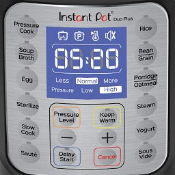 Instant Pot 3-qt Duo Plus Mini fascia - control panel