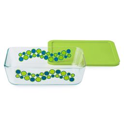 Simply Store 6 Cup Jellybean Cirque Rectangle Storage Dish w/ Lid
