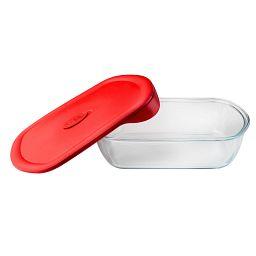 Pro 3-qt Rectangle Storage Dish w/ Lid Next to Dish