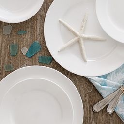 Shimmering White Dinnerware on the table