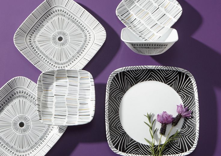 black and white corelle patterns