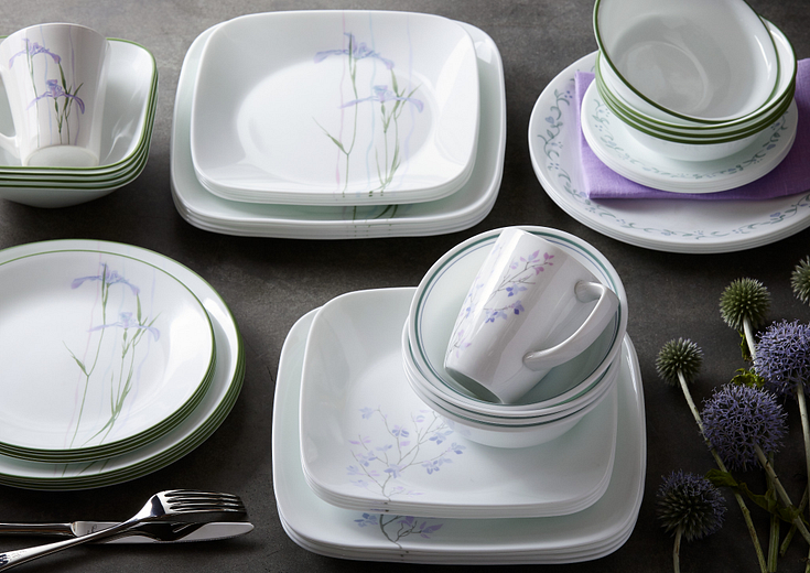 purple corelle patterns