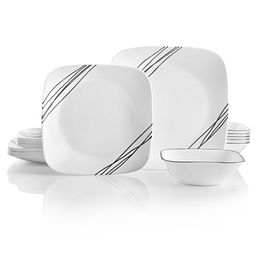 Square Simple Sketch 18-pc Dinnerware Set Front View