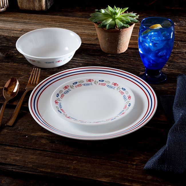 Harbor Town Dinnerware Set, Service for 4