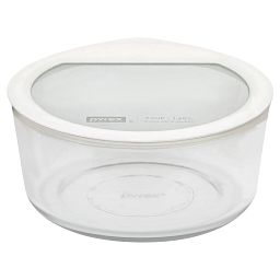 Ultimate 7 Cup Round Storage Dish  White