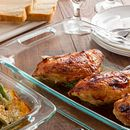 Easy Grab 8-piece Glass Bake n' Store™ Set with Blue Lids