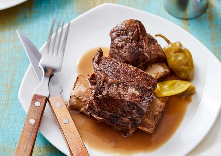 Mississippi-Style Short Ribs on plate with silverware