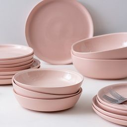 "Blush 9"" Salad Plate, Pink lifestyle"