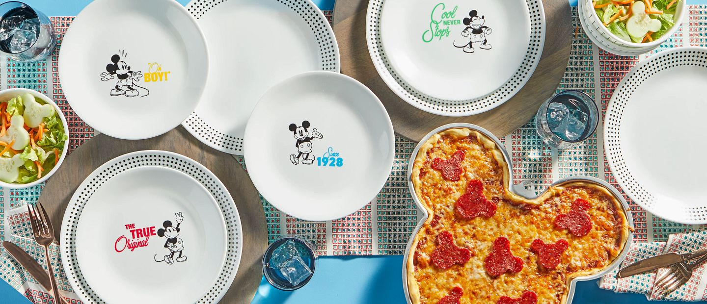 Assorted Disney Mickey Mouse plates