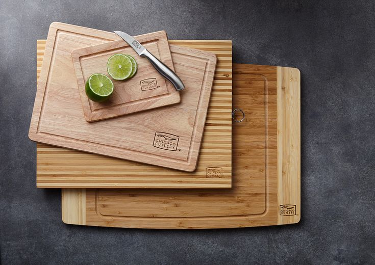 chicago cutlery cutting boards on table