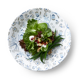 """Signature Prairie Garden Gray 8.5"""" Salad Plate with Food"""
