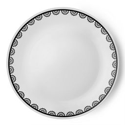 "Livingware™ Lace 10.25"" Plate  Black  &  White"