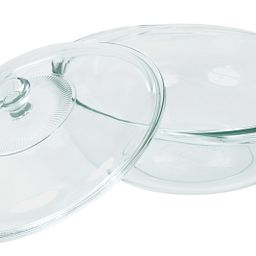2-qt Casserole w/ Glass Lid Leaning against Bowl