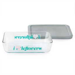 Simply Store® 3 Cup 'I Love Leftovers' Rectangle Storage Dish w/ Plastic Lid