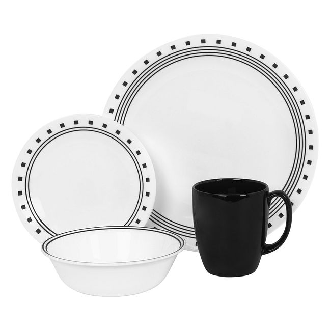 City Block 16-piece Dinnerware Set, Service for 4