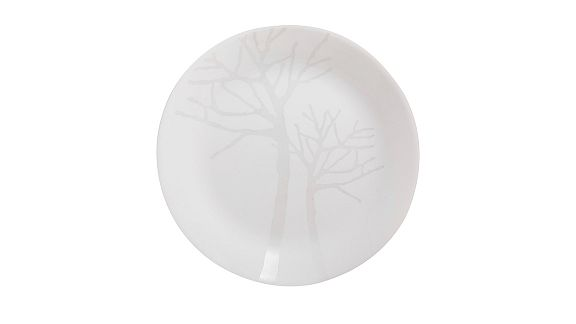 Frost Dinnerware Patterned Plate - White with tree pattern
