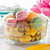 Simply Store 4 Cup Yellow Hearts Storage Dish w/ Macaroons